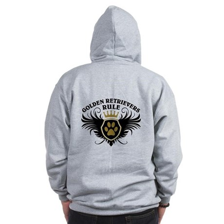 Golden Retrievers Rule Zip Hoodie