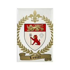 LOSIER Family Crest Rectangle Magnet (10 pack)