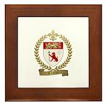 LOSIER Family Crest Framed Tile