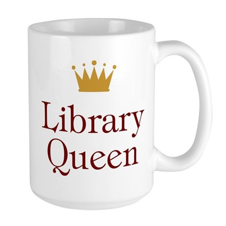 Library Queen Large Mug
