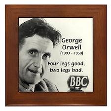 Humor in Literature Orwell Framed Tile