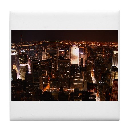 New York City at Night Tile Coaster