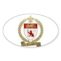 LOZIER Family Crest Sticker (Oval)