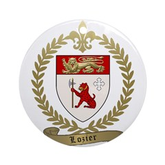 LOZIER Family Crest Ornament (Round)