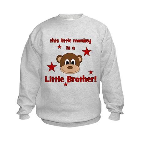 Little Monkey Is Little Broth Kids Sweatshirt