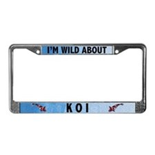 I'm Wild About Koi License Plate Frame