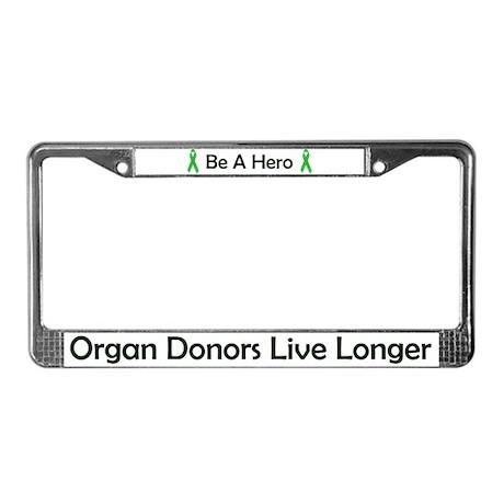 Living Longer License Plate Frame