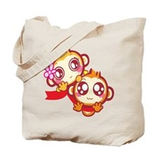 Funny Cute couples Tote Bag
