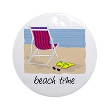 Beach Time Ornament (Round)