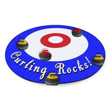 Curling Circle with Rocks Decal
