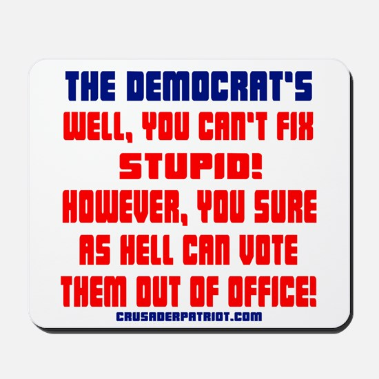 VOTE THEM OUT OF OFFICE! Mousepad