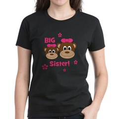 I'm The BIG Sister! Monkey Women's Dark T-Shirt