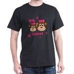 I'm The BIG Sister! Monkey Dark T-Shirt