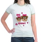 I'm The BIG Sister! Monkey Jr. Ringer T-Shirt