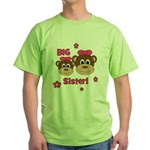 I'm The BIG Sister! Monkey Green T-Shirt