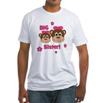 I'm The BIG Sister! Monkey Fitted T-Shirt