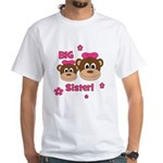 I'm The BIG Sister! Monkey White T-Shirt