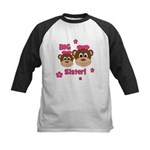 I'm The BIG Sister! Monkey Kids Baseball Jersey