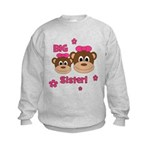 I'm The BIG Sister! Monkey Kids Sweatshirt