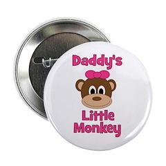 "Daddy's Little Monkey 2.25"" Button"