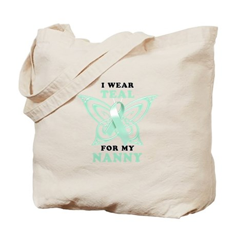 I Wear Teal for my Nanny Tote Bag