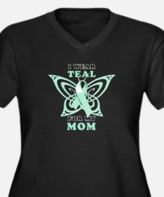 I Wear Teal for my Mom Women's Plus Size V-Neck Da