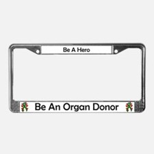 Green Hearts Ribbon Donor License Plate Frame
