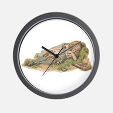 Tweedledum and Tweedledee Wall Clock