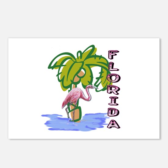 Florida flamingo Postcards (Package of 8)