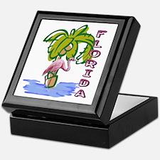 Florida flamingo Keepsake Box