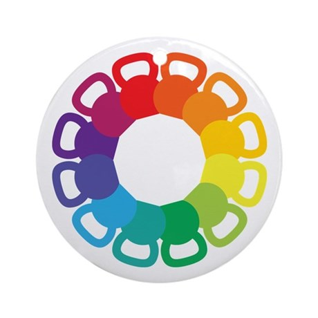 Kettlebell Color Wheel Ornament (Round)