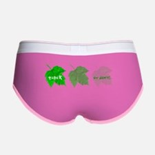 think green_leaf03 Women's Boy Brief