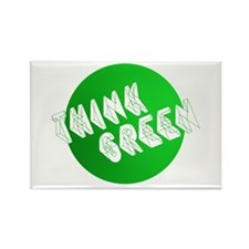 green think3 Rectangle Magnet