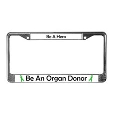 Bold Organ Donor License Plate Frame