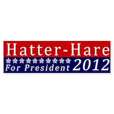 Mad Hatter for President Bumper Car Sticker