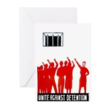 Unite Against Detention  Greeting Cards (Package o
