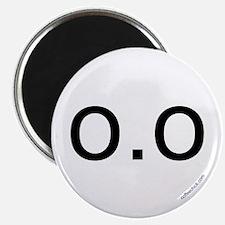 o.o emoticon Magnet