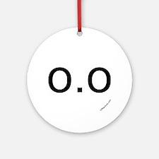 o.o emoticon Ornament (Round)