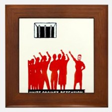 Unite Against Detention  Framed Tile