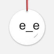 e_e emoticon [right-facing] Ornament (Round)