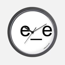 e_e emoticon [right-facing] Wall Clock