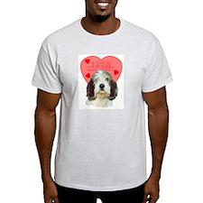 PBGV VALENTINE Ash Grey T-Shirt
