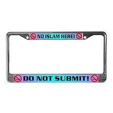 NO ISLAM! License Plate Frame
