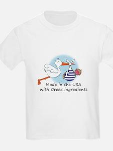 Stork Baby Greece USA T-Shirt