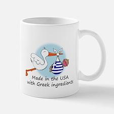 Stork Baby Greece USA Mug