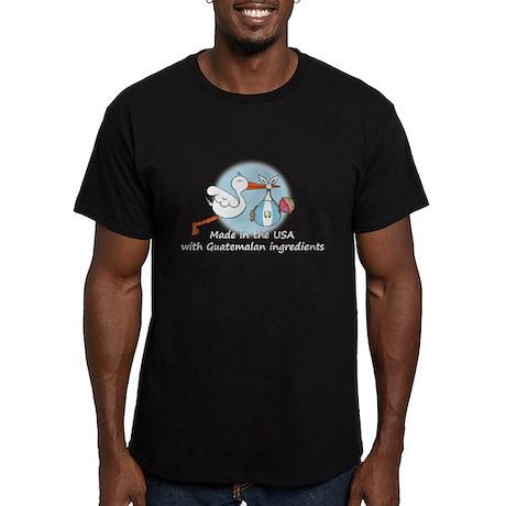 Stork Baby Guatemala USA Men's Fitted T-Shirt (dar