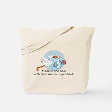 Stork Baby Guatemala USA Tote Bag