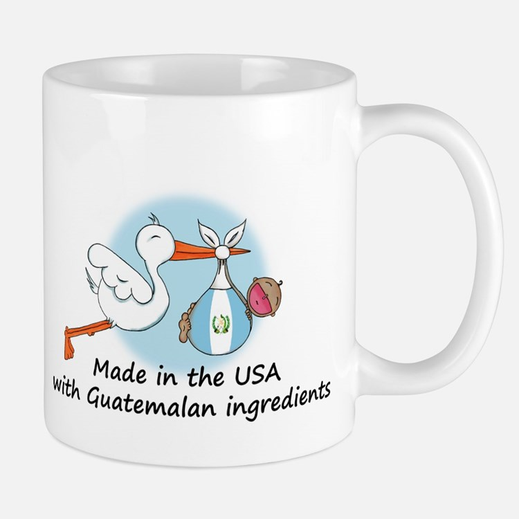 Stork Baby Guatemala USA Mug