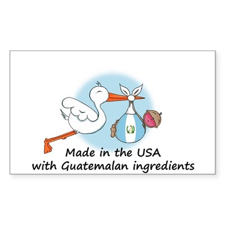 Stork Baby Guatemala USA Sticker (Rectangle)