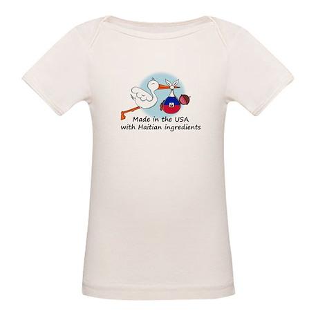 Stork Baby Haiti USA Organic Baby T-Shirt